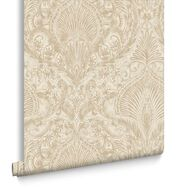 Burlesque Cream & Gold Behang, , large