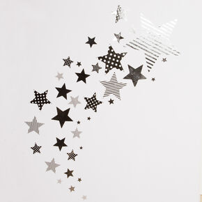 Silver Star Stickers, , large