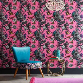Jardin Magenta Wallpaper, , large