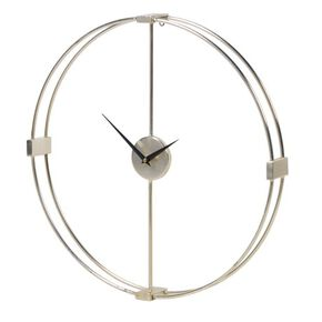 Elliptical Silver Wall Clock, , large