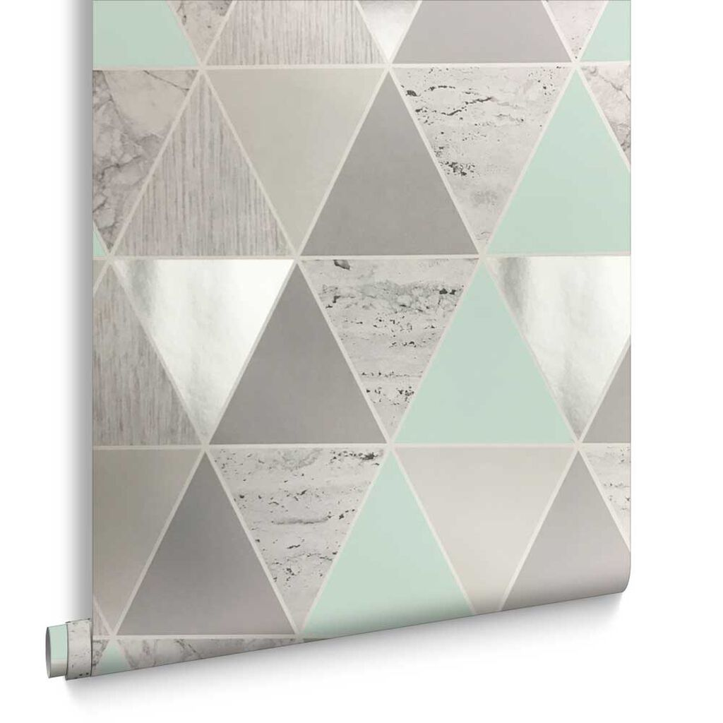 Mint Reflections Wallpaper, , large