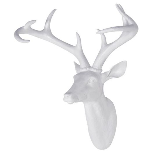 Déco Murale White Stags Head, , large