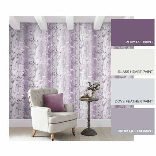 Wild Flower Plum Wallpaper, , large