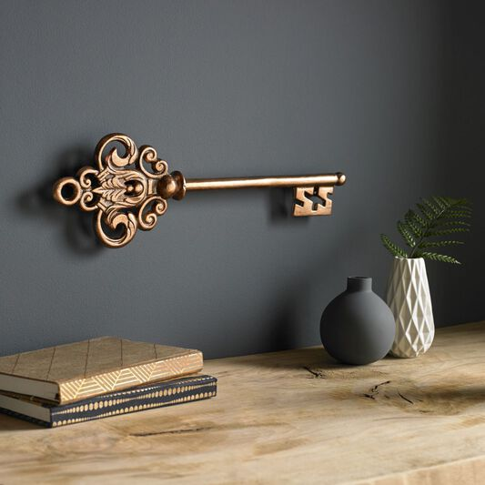 Castle Key Rose Gold Wall Art, , large