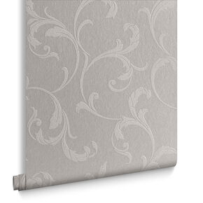 Baroque Bead Platinum Wallpaper, , large