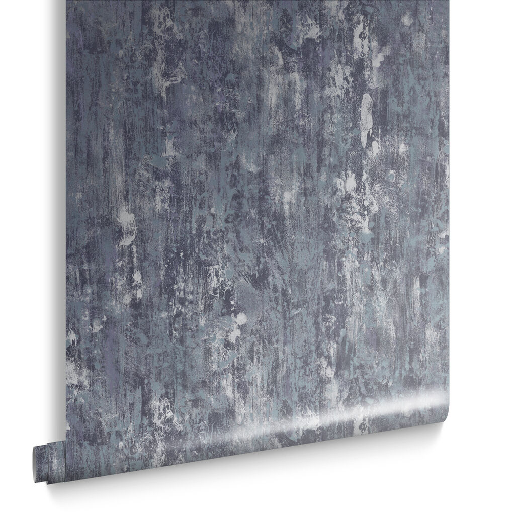 Oxidised Texture Petrol Behang, , large