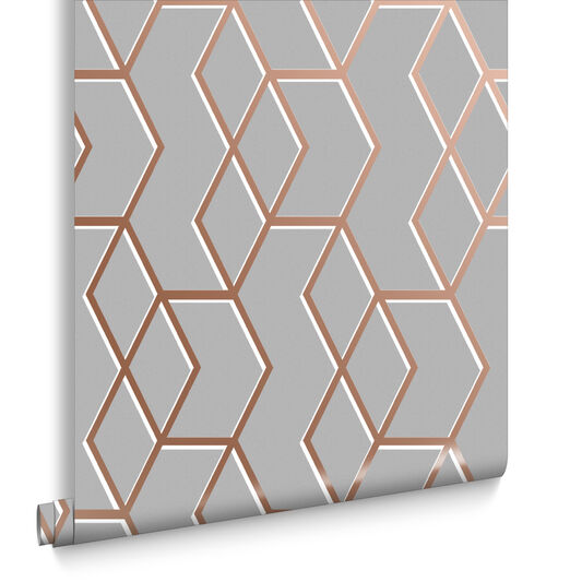 Archetype Grey & Rose Gold Behang, , large