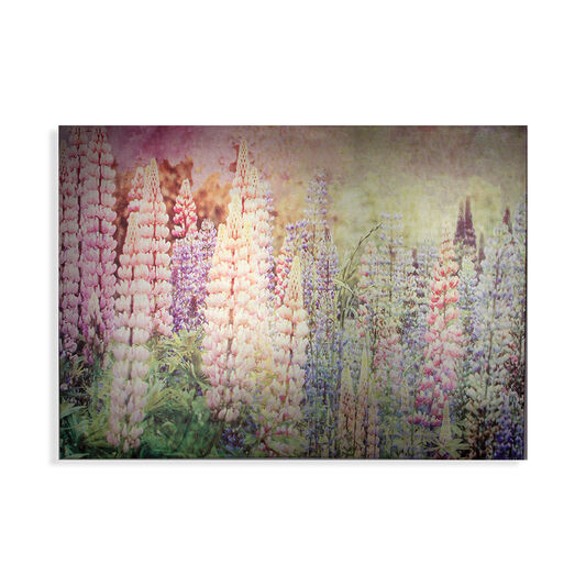 Bright Metallic Meadow Printed Canvas Wall Art, , large