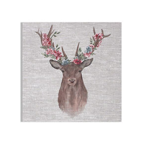 Bedruckte Leinwand Floral Stag, , large