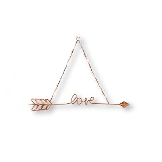 Love Story Rose Gold Metal Wall Art, , large