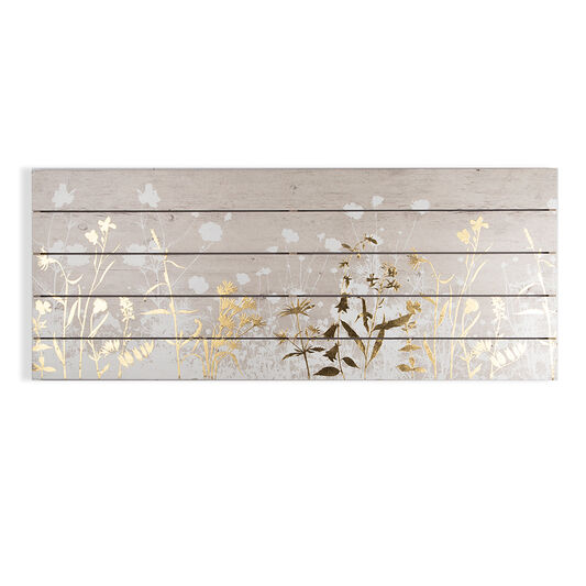 Metallic Meadow Print On Wood Wall Art, , large