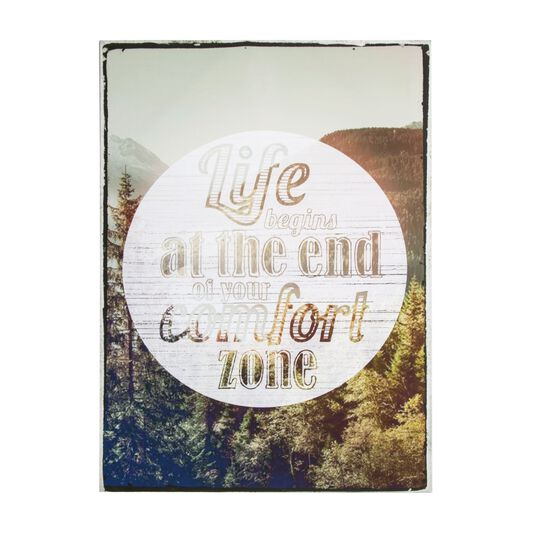 Life Begins Printed Canvas Wall Art, , large