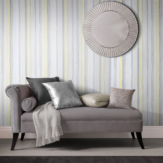 Chelsea Stripe Sun Wallpaper, , large