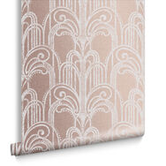 Art Deco Rose Gold Wallpaper, , large