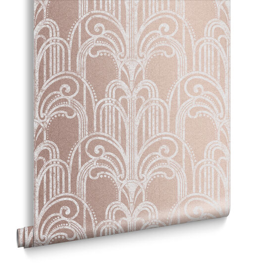 Art Deco Rose Gold Behang, , large