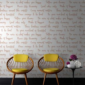 Good Vibes Rose Gold Wallpaper, , large