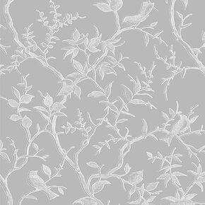Laos Trail Gray & Silver Wallpaper , , large