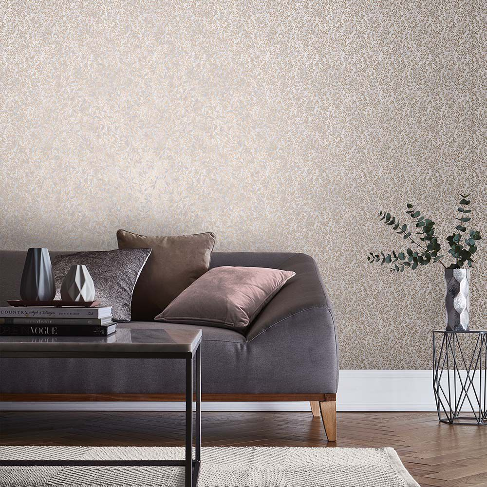 ... Large Botany Soft Rose Gold Wallpaper, ...