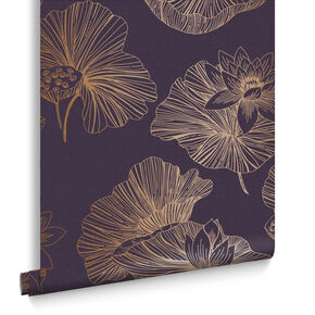 Lotus Plum Wallpaper, , large