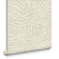 Zebra Taupe Wallpaper, , large