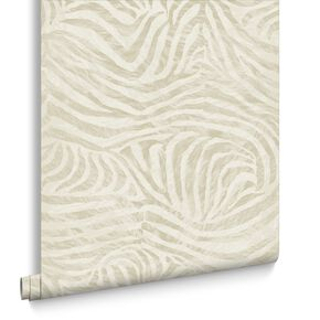 Zebra Taupe Behang, , large