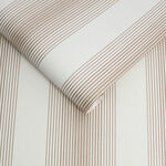 Lagom Stripe White & Rose Gold Wallpaper