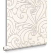 Saville Silver Wallpaper, , large