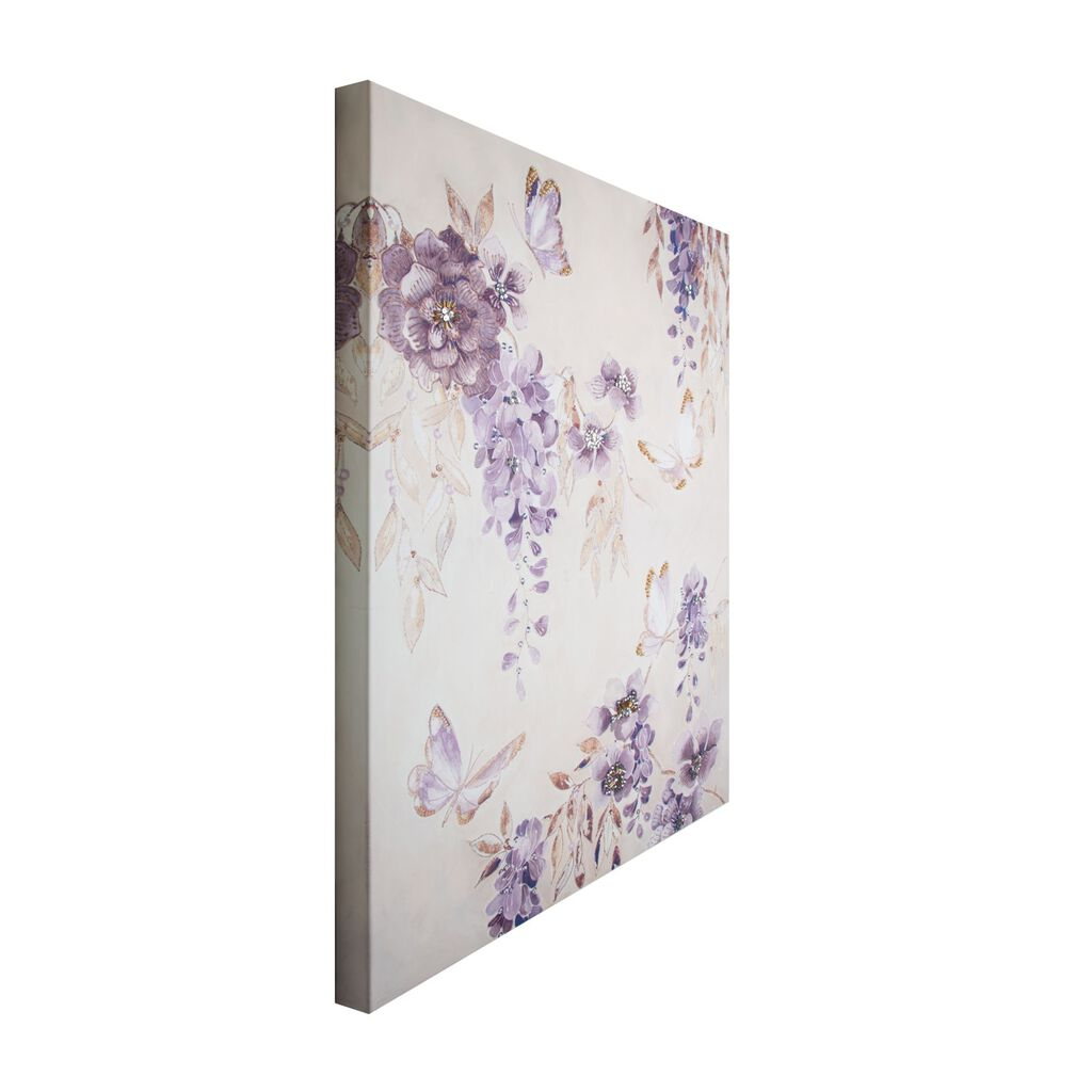 Butterfly Bloom Printed Canvas Wall Art, , large