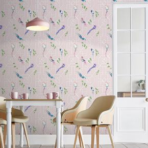 Bird Cage Blush Wallpaper, , large