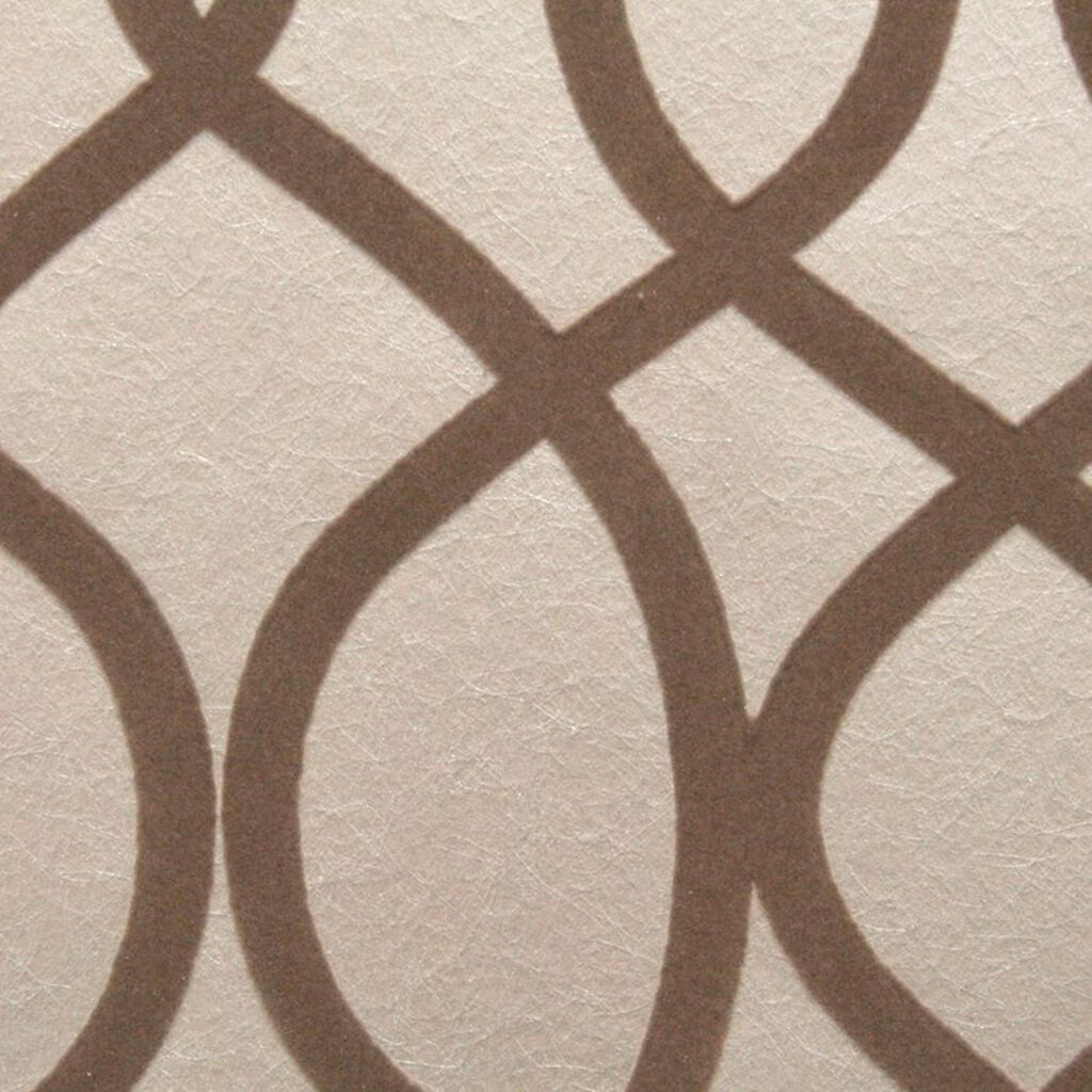 Knightsbridge Flock Taupe Wallpaper, , large