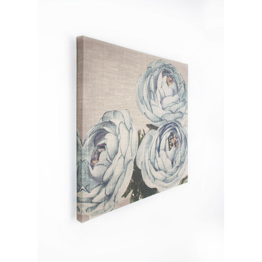 Teal Floral Trio Stoffen canvas, , large