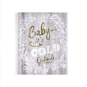 Baby it's Cold Outside Wall Art, , large