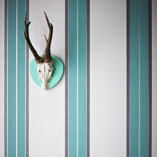 Harlow Teal Wallpaper, , large
