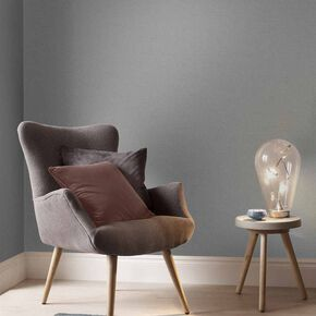 Lagom Grey Plain Wallpaper, , large