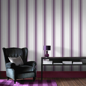 Orla Plum and Silver Wallpaper, , large