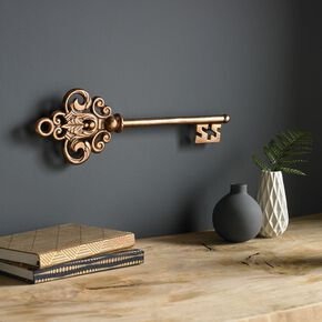 Castle Key Rose Gold Metal Wall Art , , large