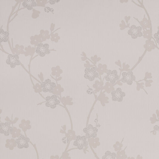 Cherry Blossom White Mica Wallpaper, , large