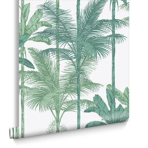 Jungle Luscious Green Wallpaper, , large