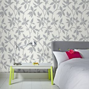 Elisa Soft Grey Wallpaper, , large
