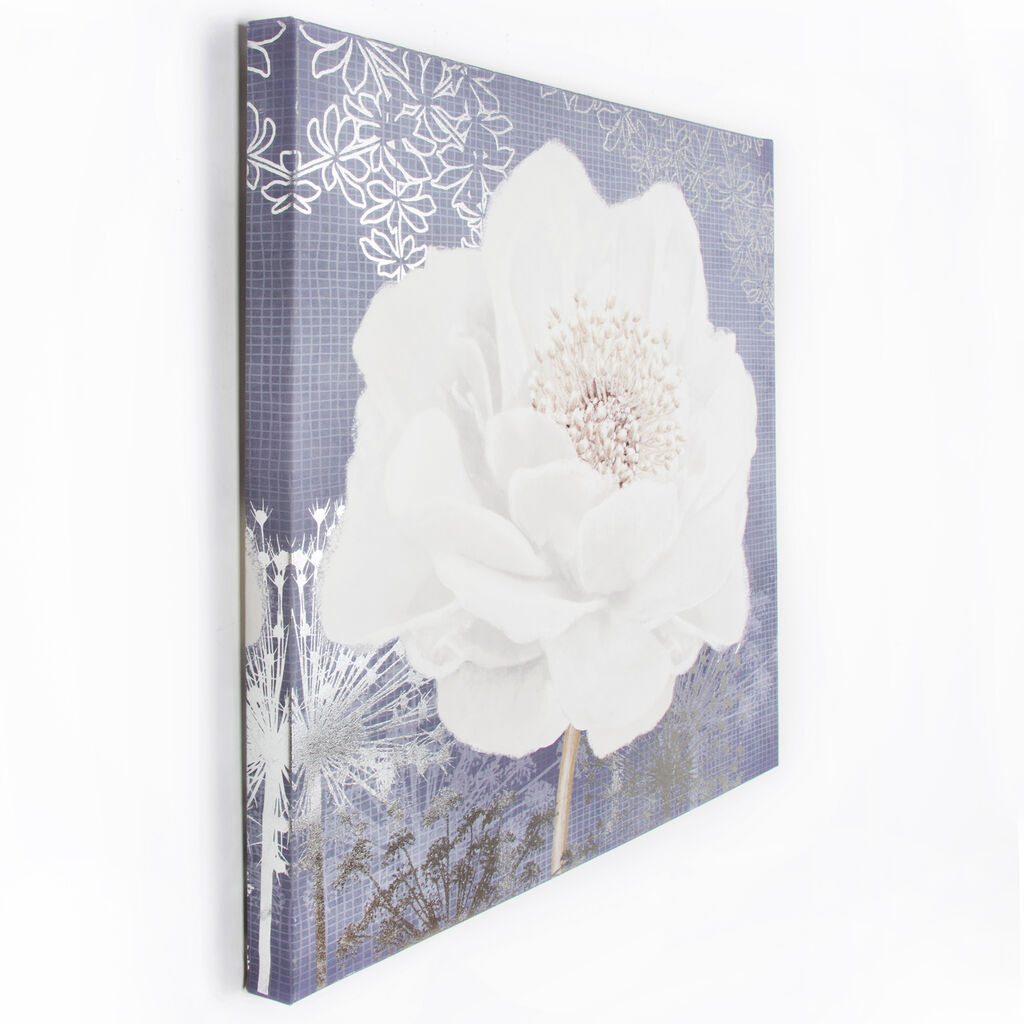 Lilac Bloom Printed Canvas Wall Art, , large