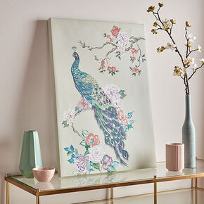 Pretty Peacock Wall Art, , large
