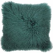 Teal Mongolian Cushion, , large