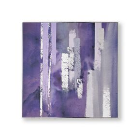 Purple Harmony Framed Canvas Wall Art, , large