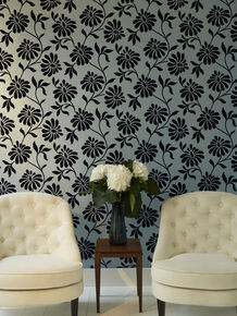 Ophelia Blue Wallpaper, , large