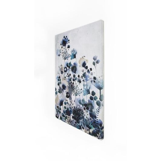 Moody Blue Watercolour Printed Canvas, , large