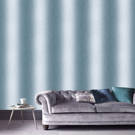 Ombre Stripe Jade Wallpaper, , large