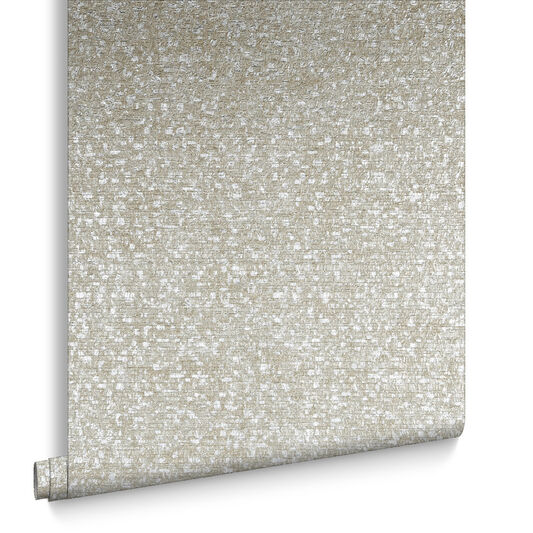 Confetti Taupe & Silver Behang, , large