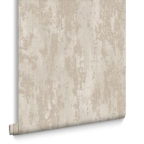 Industrial Texture Beige & Gold Wallpaper, , large