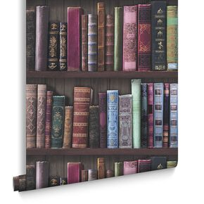 Book Shelf Wallpaper, , large