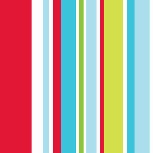 Long Island Stripe Red and Blue and Green Wallpaper, , large